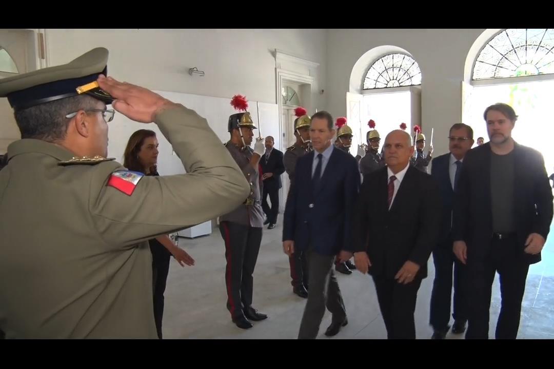 Otávio Praxedes recebe Ministros do STF e STJ no Palácio do Governo